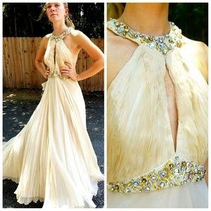 NWT Vintage DIANE FREIS 1990s 100% SILK Gown Dress